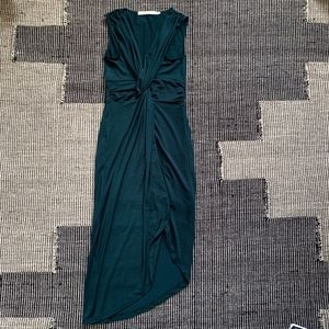 Lovers + Friends Green Slit Front Layer Dress NEW!
